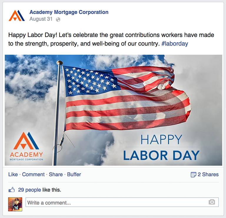 Holiday Message Mortgage Social Media Post Idea