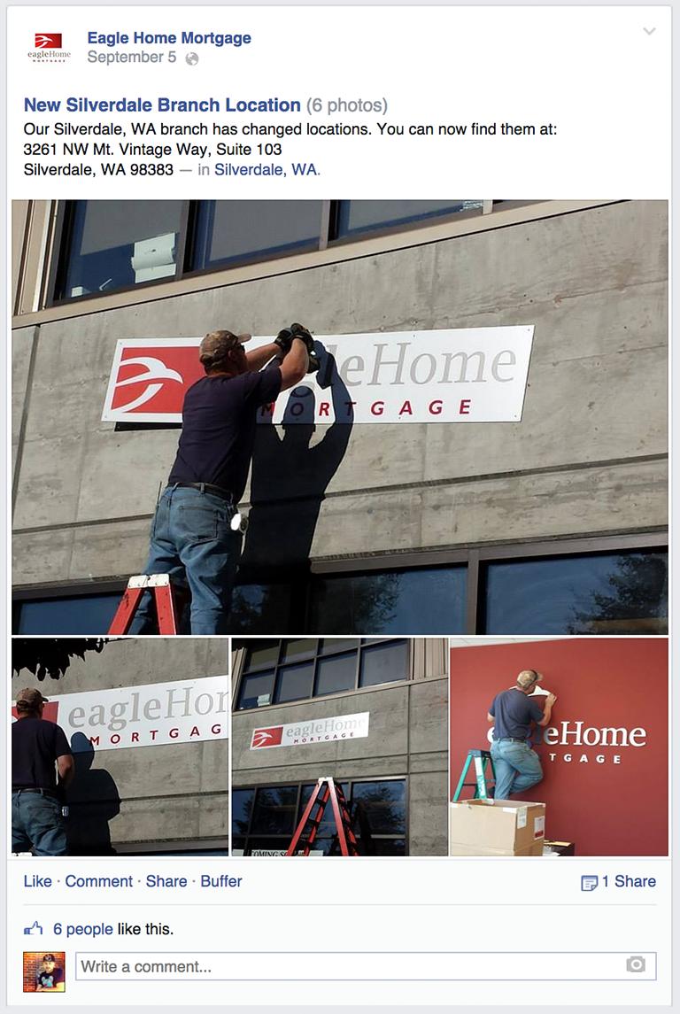 New Location Mortgage Social Media Post Idea