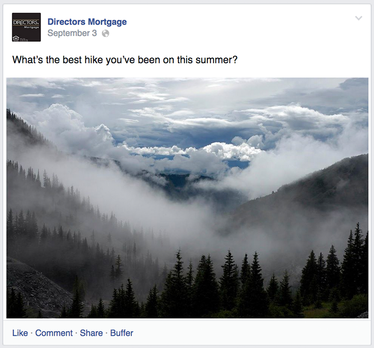 Question Post Mortgage Social Media Post Idea