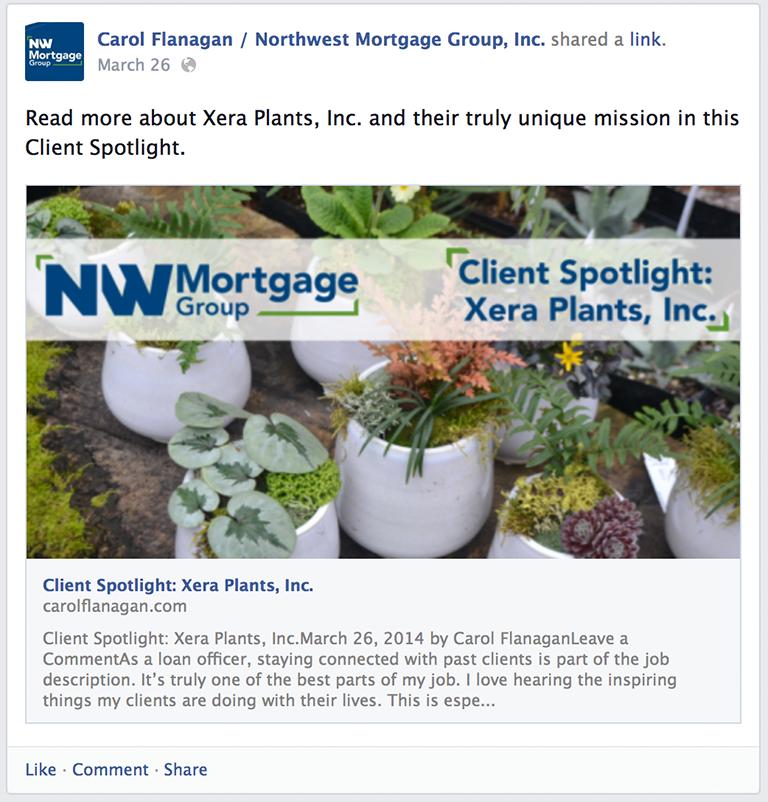 Business Owner Spotlight Mortgage Social Media Post Idea