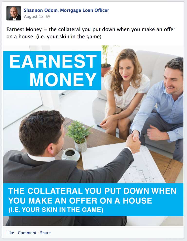 Mortgage Glossary Terms Mortgage Social Media Post Idea