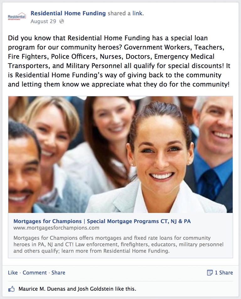 New Loan Product Mortgage Social Media Post Idea