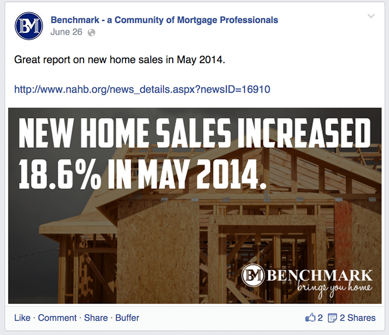 Mortgage Statistics Mortgage Social Media Post Idea