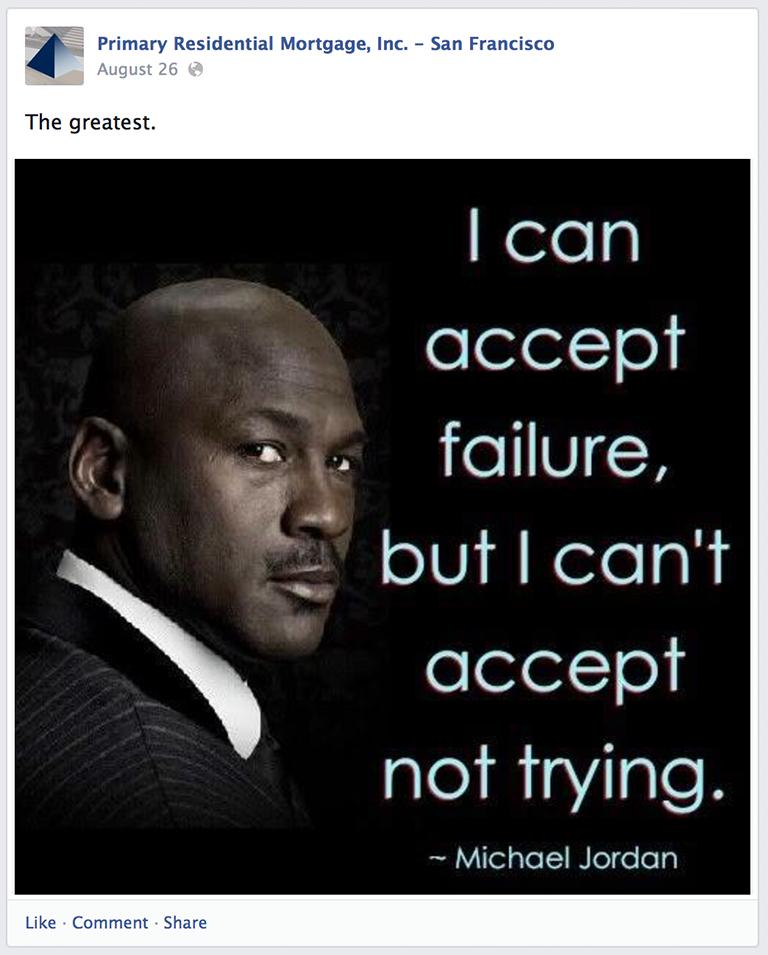 Inspirational Quote Mortgage Social Media Post Idea