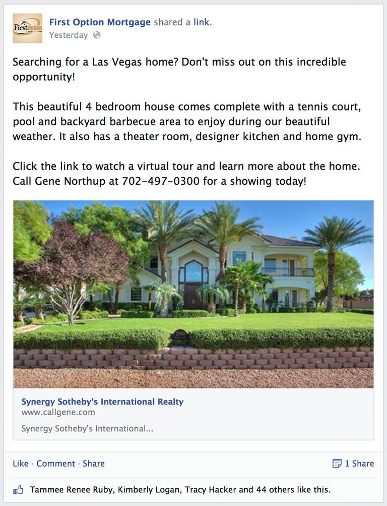 Realtor Partner Listing Mortgage Social Media Post Idea