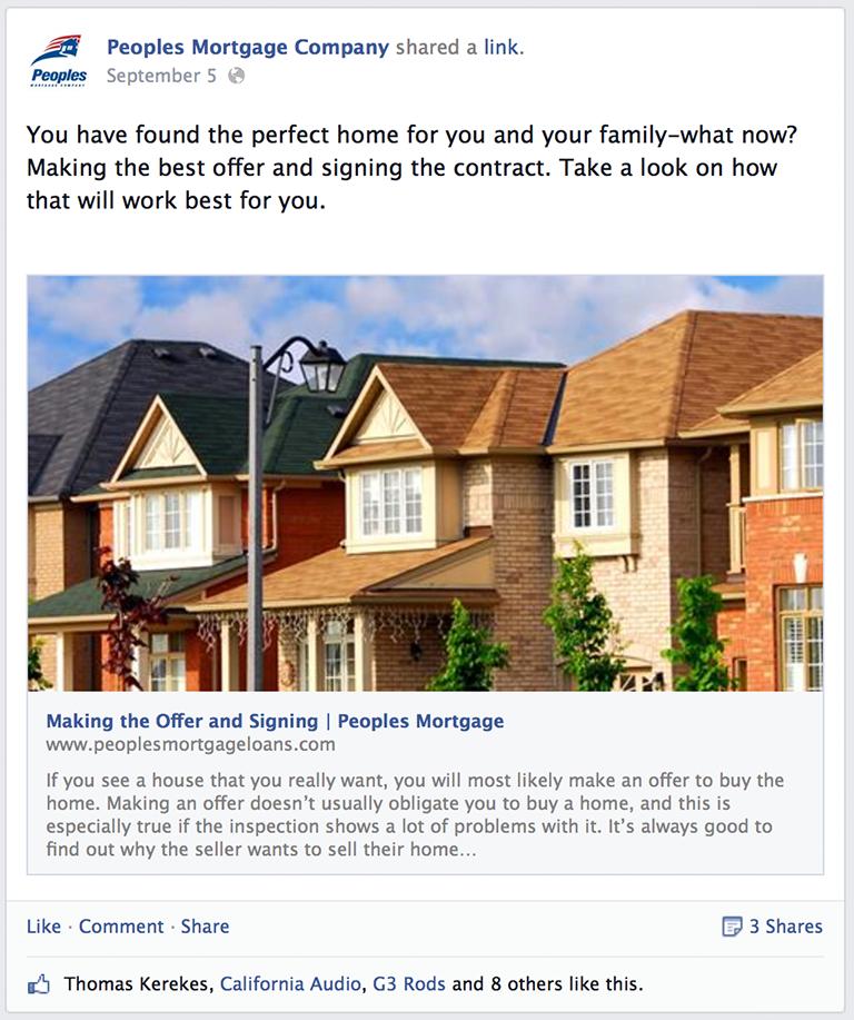 Blog Post Mortgage Social Media Post Idea