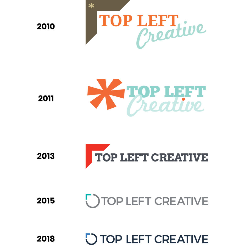 Old Top Left Creative Logos, 2010 to 2018